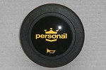 Personal Horn Button - Black / Yellow Logo - 2 Contact