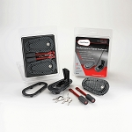 AeroCatch Flush Locking Hood Latch and Pin Kit - Black Carbon Fiber Look
