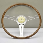 Nardi Steering Wheel - Vintage Replica - 420mm (16.54 inches) - Mahogany Wood with Flat Spokes - Mercedes 300 SL