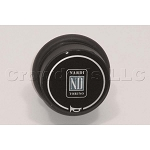 Nardi Horn Button - Type D - Black with Nardi Logo - Double Contact - Part # 4041.01.0126