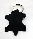 Nardi Key Ring - Black Leather with Debossed Logo