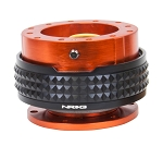 NRG Gen 2.1 Quick Release Kit - Orange Body / Black Pyramid Ring - Part # SRK-210OR/BK