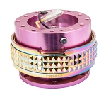 NRG Gen 2.1 Quick Release Kit - Pink Body / Neochrome Pyramid Ring - Part # SRK-210PK/MC