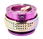 NRG Gen 2.1 Quick Release Kit - Purple Body / Neochrome Pyramid Ring - Part # SRK-210PP/MC