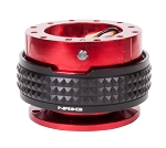 NRG Gen 2.1 Quick Release Kit - Red Body / Black Pyramid Ring - Part # SRK-210RD/BK