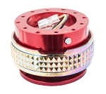 NRG Gen 2.1 Quick Release Kit - Red Body / Neochrome Pyramid Ring - Part # SRK-210RD/MC