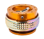 NRG Gen 2.1 Quick Release Kit - Rose Gold Body / Neochrome Pyramid Ring - Part # SRK-210RG/MC