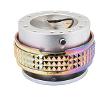 NRG Gen 2.1 Quick Release Kit - Silver Body / Neochrome Pyramid Ring - Part # SRK-210SL/MC