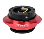NRG Gen 2.2 Quick Release Kit - Black Body / Red Oval Ring - Part # SRK-220BK/RD
