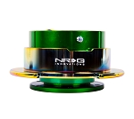 NRG Gen 2.5 Quick Release Kit - Green Body / Neochrome Ring with Paddles - Part # SRK-250GN/MC