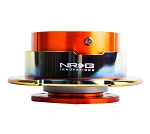 NRG Gen 2.5 Quick Release Kit - Orange Body / Neochrome Ring with Paddles - Part # SRK-250OR/MC