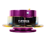 NRG Gen 2.5 Quick Release Kit - Purple Body / Neochrome Ring with Paddles - Part # SRK-250PP/MC