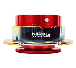 NRG Gen 2.5 Quick Release Kit - Red Body / Neochrome Ring with Paddles - Part # SRK-250RD/MC