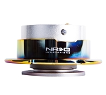 NRG Gen 2.5 Quick Release Kit - Silver Body / Neochrome Ring with Paddles - Part # SRK-250SL/MC