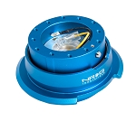 NRG Gen 2.8 Quick Release Kit - Blue Body / Blue Ring with Diamond Cut Paddles - Part # SRK-280BL