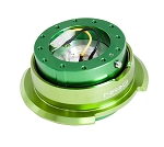 NRG Gen 2.8 Quick Release Kit - Green Body / Green Ring with Diamond Cut Paddles - Part # SRK-280GN