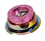 NRG Gen 2.8 Quick Release Kit - Pink Body / Neochrome Ring with Diamond Cut Paddles - Part # SRK-280PK-MC