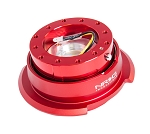 NRG Gen 2.8 Quick Release Kit - Red Body / Red Ring with Diamond Cut Paddles - Part # SRK-280RD