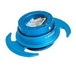 NRG Gen 3.0 Quick Release Kit - Blue Body / Blue Ring with Paddles - Part # SRK-650BL