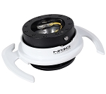 NRG Gen 4.0 Quick Release Kit - Black Body / White Ring with Paddles - Part # SRK-700BK/WT