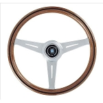 Nardi Steering Wheel - Classic Wood - 360mm (14.17 inches) - Mahogany Wood with Satin Spokes - KBA/ABE 70083 - Part # 5051.36.6300