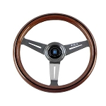 Nardi Steering Wheel - Classic Wood/Polished 330 mm New