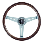 Nardi Steering Wheel - Classic Wood - 360mm (14.17 inches) - Mahogany Wood with Polished Spokes - Part # 5061.36.3000