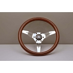 Nardi Steering Wheel - Deep Corn - 330mm (12.99 inches) - Mahogany Wood with Polished Spokes - Classic Horn Button - Part # 5069.33.3000