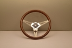 Nardi Steering Wheel - Deep Corn - 350mm (13.78 inches) - Mahogany Wood with Polished Spokes - Classic Horn Button - Part # 5069.35.3000