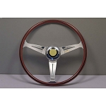 Nardi Steering Wheel - Ferarri Replica (1959-1965) - 420 mm Mahogany Wood / Polished Spokes 5819.42.3002