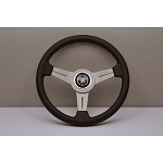 Nardi Steering Wheel - Classic - 330 mm Black Leather / Silver spoke