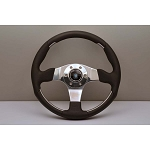 Nardi Steering Wheel - ND1 Metal - 350 mm - Black Leather / Glossy Spokes