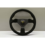Personal Steering Wheel - Grinta - 330 mm Black Suede with Yellow Stitching
