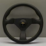 Personal Steering Wheel - Grinta 330 mm Black Leather with Yellow Stitching