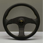 Personal Steering Wheel - Neo Actis - 350 mm Black Leather with Yellow Logo