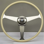 Nardi Steering Wheel - Vintage Replica Ivory Color - 420 mm Plastic Material / Polished Spokes 7012.42.3000