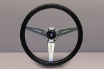Nardi Marine Steering Wheel - Black Plastic Grip w/ Satin Spokes - Part # 7062.36.6300