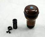 Nardi Gear Shift Knob with M10x1.25 Adapter - Evolution - Mahogany Wood - Part # 3200.00.5000 + ND-M10x1.25