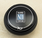 Nardi Steering Wheel Horn Button - Type B - Black with Nardi Logo - 4041.01.0109