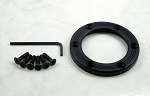 Nardi Personal Horn Button Trim Ring Black Anodized Aluminum Screws at Sight - Part # 4041.18.0632