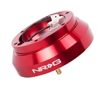 NRG Short Steering Wheel Hub Adapter - Nissan Altima 200SX 300ZX 240SX - Red - Part # SRK-140H-RD