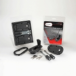 AeroCatch Xtreme Plus Flush Locking Hood Latch and Pin Kit - Black - Part # 120-4100