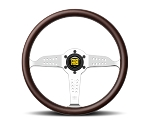 MOMO Heritage Steering Wheel - Super Grand Prix - 350mm Mahogany Wood with Polished spokes - Part # GRA35WD0P