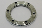 Nardi Horn Button Trim Ring - Polished Aluminum with Screws at Sight - Part # 4041.18.0832