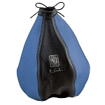 Nardi Shift Boot - Black Leather & Blue Leather with Blue Stitching - Nardi Logo - Part # 3600.03.0000