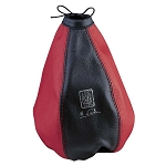 Nardi Shift Boot - Black Leather & Red Leather with Red Stitching - Nardi Logo - Part # 3600.11.0000