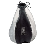 Nardi Shift Boot - Black Leather & Inox Silver Leather with Silver Stitching - Nardi Logo - Part # 3600.13.0000