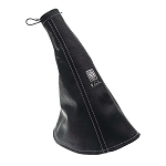 Nardi E-Brake Boot - Black Leather with Silver Stitching - Part # 3900.01.0000