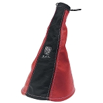 Nardi E-Brake Boot - Black Leather & Red Leather with Red Stitching - Part # 3900.11.0000