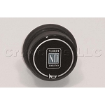 Nardi Single Contact Black Horn Button - D 515 ND - Type D - Part # 4041.01.0125
